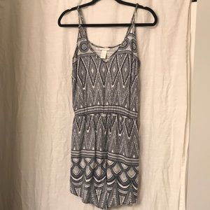 Navy and white printed H&M romper